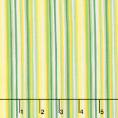 Splash of Lemon - Imperfect Stripes Green Yardage