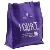 Missouri Star Purple Tote Bag - I Quilt. What's Your Superpower?
