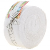 Bella Solids White Jelly Roll