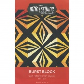 Man Sewing Burst Block Pattern