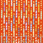 Let's Celebrate - Candles Red Yardage