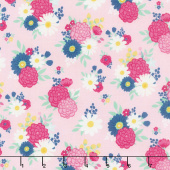 I'd Rather Be Glamping - Bouquets Pink Yardage