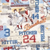 Play Ball - American Pastime Light Blue Yardage