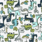 "Cuddle Prints - Roar! Teal 60"" Minky Yardage"
