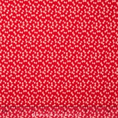 Little Ruby Flannel - Little Bows Red Yardage