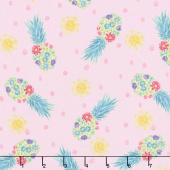 Sun N' Soil - Tossed Pineapple Pink Yardage