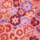Kaffe Fassett Collective - Stash Scarlet Florals Gloxinias Pink Yardage