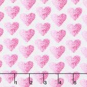 Hearts of Love - Small Set Hearts White Pink Yardage
