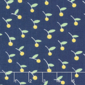 Only You - Cherries Blue Yardage