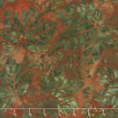 Artisan Batiks - Cornucopia 9 Leaves Rust Yardage