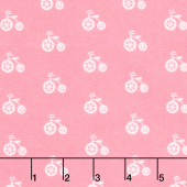 Cozy Cotton Flannels - Sweet Bicycles Pink Yardage