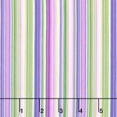 Chelsea - Barcode Stripe White Multi Yardage