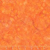 Sweet Hearts Batiks - Dot Hibiscus Deep Coral Yardage