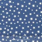 Lost and Found America - Americana Mini Stars Blue Yardage