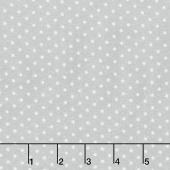 Woolies Flannel - Polka Dots Grey Yardage