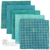Robin Egg Blue Wool Charm Pack