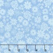 Top Drawer - Tonal Floral Baby Blue Yardage