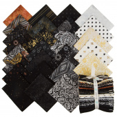 Shiny Objects - Precious Metals with Black Glitter/Metallic Fat Quarter Bundle