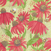 Painted Meadow - Coneflower Sprig Yardage