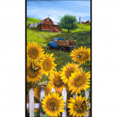 Country Paradise - Sunflower Yellow Panel
