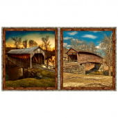 Art Works VII - Covered Bridges Multi Digitally Printed Panel