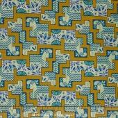 Downton Abbey - The Egyptian Collection Egyptian Maze Olive Yardage