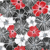 Cherry Twist - Packed Poppies Cherry Yardage