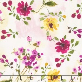 Muse - Watercolor Flowers Yardage