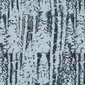 Snowberry Batiks - Snow Trees Eggplant Yardage