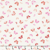 Lazy Days - Butterflies Porcelain Peony Yardage