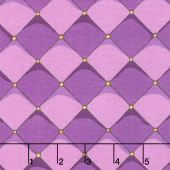 Dragons - Checkered Purple Yardage