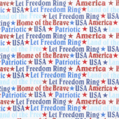 America Home of the Brave - Words White Yardage