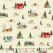 Gone Camping - Site Cream Yardage