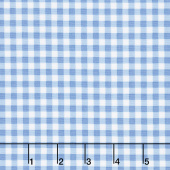Afternoon Picnic - Gingham Blue Yardage
