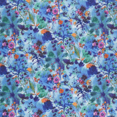 Bloom Bloom Butterfly - Wild Meadow Twilight Yardage