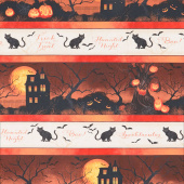 Haunted Night - Border Stripe Multi Yardage