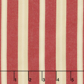 Atelier De France  - Rouge Large Stripe Twill Woven Yardage