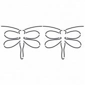 Quilt Stencil Dragonfly Border