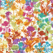 Dreamscapes II - Floral White/Multi Digitally Printed Yardage
