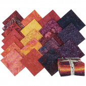 Fiery Sunset Batiks Fat Quarter Bundle