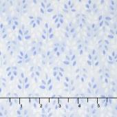 Daisy Blue - Lovely Leaves Blue Sky Yardage