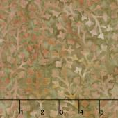 Sunset Strip Batiks - Delicate Leaves Brown Yardage