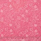 Wonderland 2 - Tea Party Pink Yardage