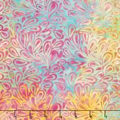 Caribbean Breeze Batiks - Paisley Drops Tie Dye Yardage