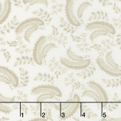 Regency Ballycastle Chintz 18th Century - Greyabbey Off White Yardage