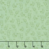 Kewpie Christmas - Christmas Tonal Green Yardage