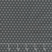 All Hallow's Eve - Polka Dot Circles Midnight Yardage