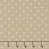 Linen Mochi Dot - Dot Putty Linen Yardage