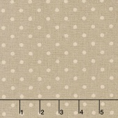 Linen Mochi Dot - Dot Putty Linen Yardage