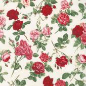 Rose Garden - Allover Roses Cream Yardage